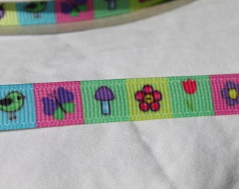 3/8 Ribbon Grosgrain Ribbon by the Yard for Hairbows, Scrapbooking, and More!!