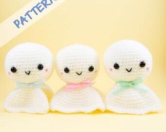 Crochet Amigurumi Pattern (PDF) - Teru Teru Bozu  -- DIY crochet toy pattern