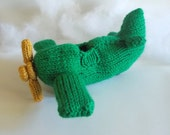 Interactive Model Airplane Knitted Soft Toy - Boys Stuffed Toys - Airplane Gift Idea - Kids Room Decor - Amigurumi Airplane