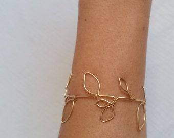 Leaf Bracelet   Gold Leaf Bracelet   Silver Leaf Bracelet   Rose Gold Leaf Bracelet   Gold Leaf   Gold Leaf Branch   leaves   Leaf Bangle