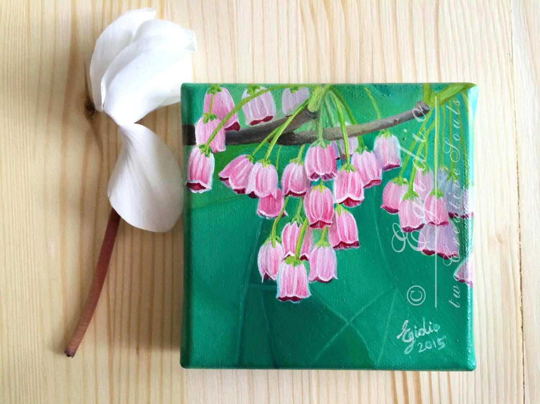Mini dipinto ad olio festa della mamma quadro in miniatura for Fiori ad olio