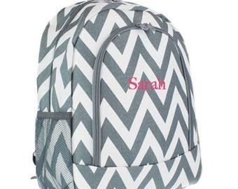 MONOGRAMMED backpack / Personalized chevron backpack / Girls Personalized backpack / Monogrammed Book Bag / Girls School Bag / Christmas