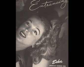 Vogue magazine ad for Eska cold wave permanent, matted - Beauty0280