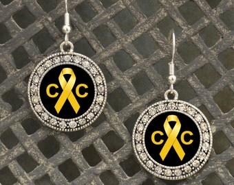 Childhood Cancer Awareness Earrings