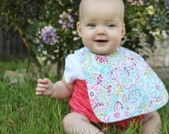 3 Custom Baby Bibs - Triple Layer Chenille