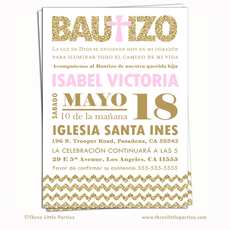 spanish baptism invitation invitacion de bautizo en espa u00f1ol