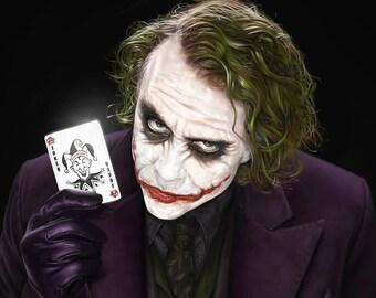 The Joker Wall Art, Batman Movie poster, Picture Print A0