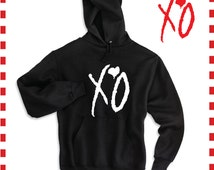 """The Weeknd Inspired Hoodie Sweater """"XO Till we overdose"""" S ..."""
