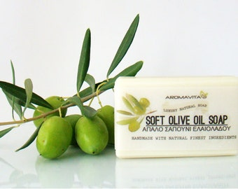 Pure Olive Oil Soap, All Natural, Unscented,For Sensitive Skin.