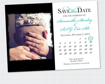 Save the Date | Calendar Save-the-Date | Photo Save the Date {Digital File} Wedding STD
