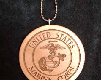 Marine Crest car medallion