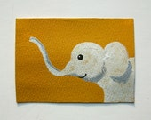 "The Ochre Elephant #47 (ARTIST TRADING CARDS) 2.5"" x 3.5"" by Mike Kraus Free Shipping"