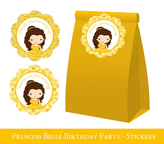 Belle Birthday Party Decorations Impressive Belle Thank You Tags Belle Party Belle Loot Bag Label Belle Design Ideas