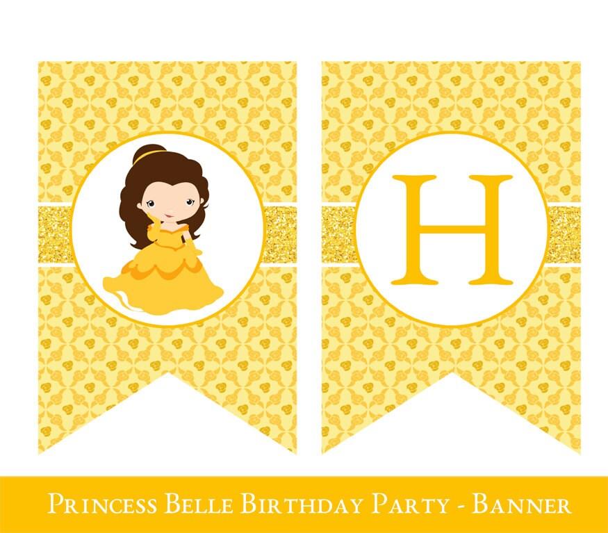 Belle Birthday Banner Belle Banner Belle Party Banner