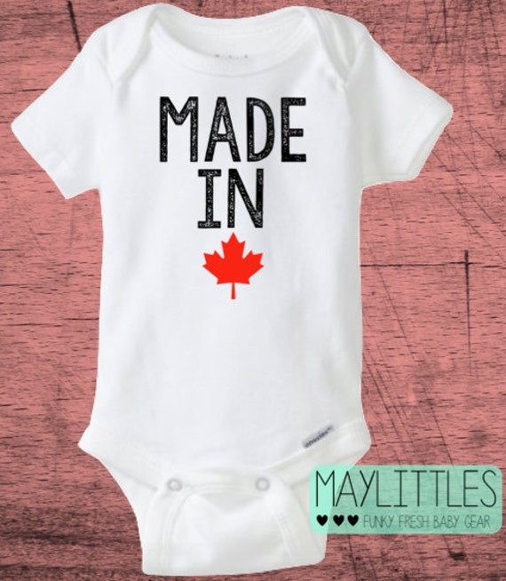 made in canada baby onesie canadian baby clothes by maylittles