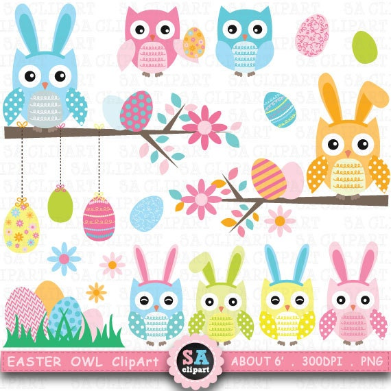 free easter owl clip art - photo #29