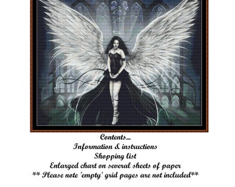 ANGEL 2 Cross Stitch Chart ( pattern )