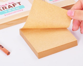 Kraft Paper / Sticky notes Post-It notes