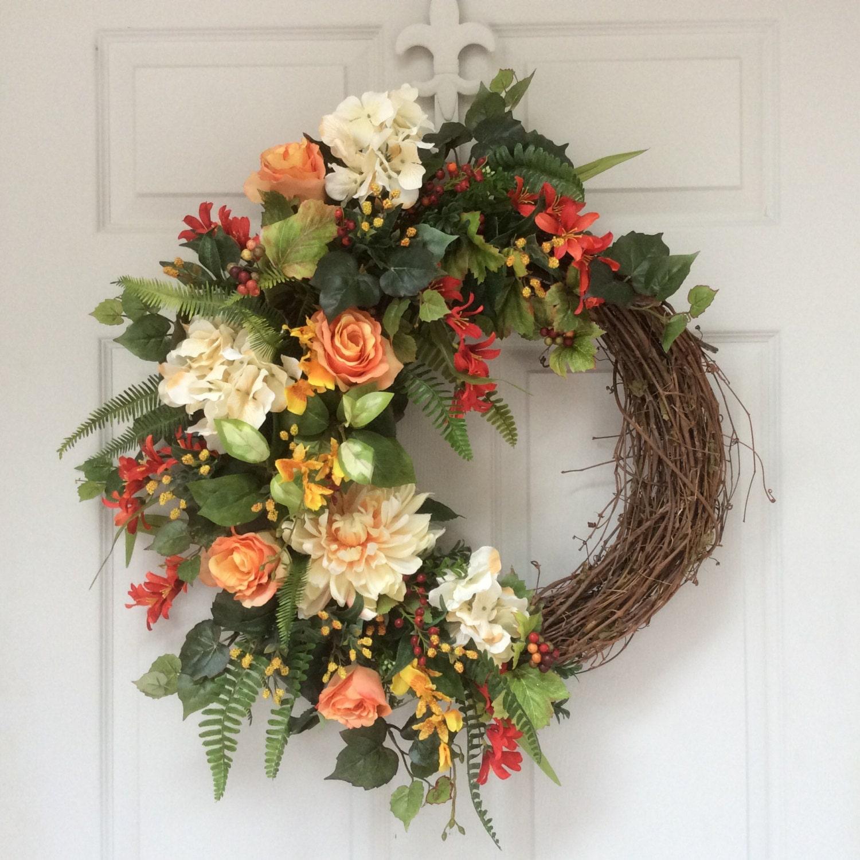 Spring Wreath Easter Wreath Summer Wreaths Tropical