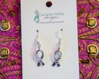 Hope Awareness Ribbon Earrings