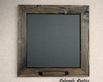 """Framed Chalkboard, Rustic Chalkboard, Kitchen Chalkboard, Distressed, Kitchen Décor, Cabin Decor, Reclaimed, Small Chalkboard, 15""""x15"""""""