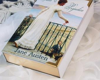 "Romantic Book Clutch ""Pride & Prejudice"" Jane Austen (customizable)"