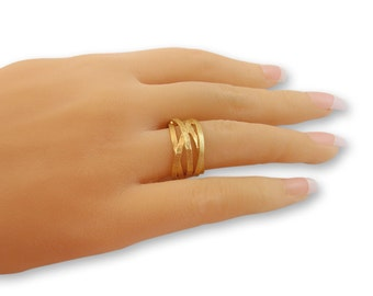Gold band Ring handmade jewelry gifts for women, gift for her