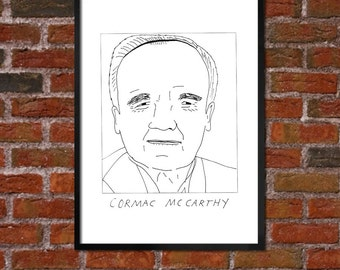 Badly Drawn Cormac McCarthy - Literary Poster - *** BUY 4, GET A 5th FREE***