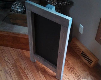 Classic Gray Stain Chalkboard Easel - Rustic Country Decor