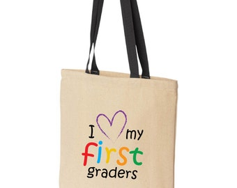 Fast Shipping! Great Reviews! Teacher Gift. Any Grade. Tote Bag.  I love my students. Personalized and Customized shirts for teachers,