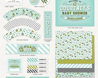 Storybook Baby Shower Decorations – Boy – Printable Party Kit by Squawk Box Studio