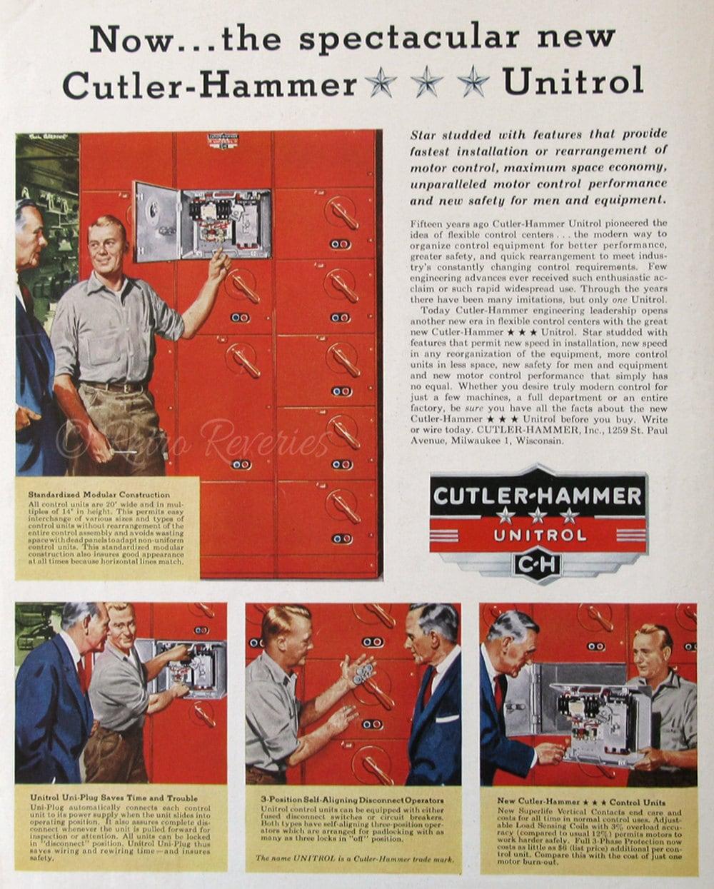 1955 Cutler Hammer Unitrol Ad 1950s Motor Control Center