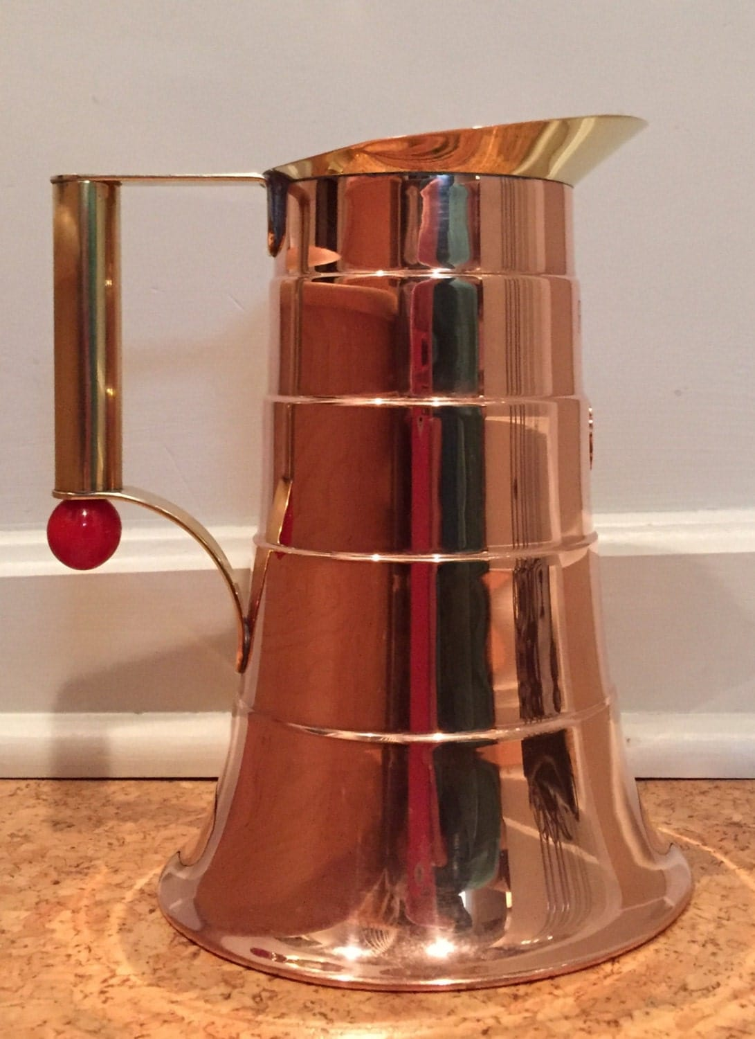 Art deco manning bowman copper brass bakelite service - Deco trap ...