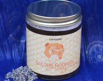 Raw honey infused with lavender.