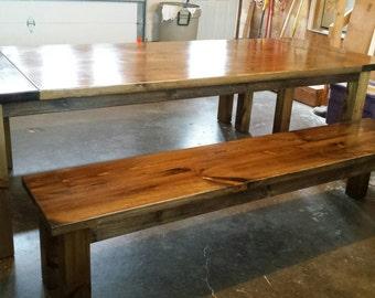 Minimalist Harvest Bench / Farmhouse Bench / Farm Bench / Harvest Bench / Rustic Bench / Dinning Bench
