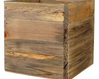 Wood Box Wood Planters Flower Wood Box with Removable Zinc Liner - ZWCB050505