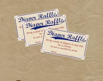 BASEBALL Diaper Raffle INSERT Baby Shower - Instant Download