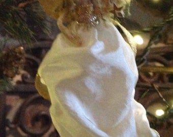 Gold and Ivory Christmas Angel