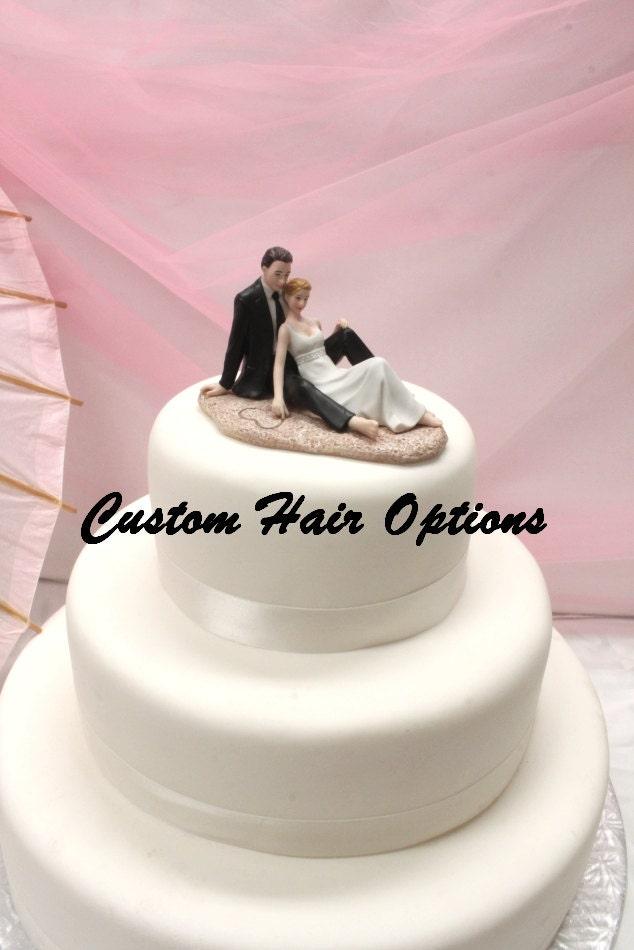 personalized wedding cake topper beach wedding romantic. Black Bedroom Furniture Sets. Home Design Ideas