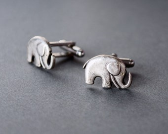 Elephant Cufflinks Men's Cufflinks GOP Cufflinks Election Elephant Cufflinks Democratic Cufflinks Democratic Antique Silver Men's Gifts