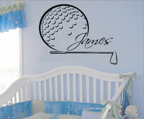Golfer Wall Decals Sport Boy Golf Player By Walldecalswithlove