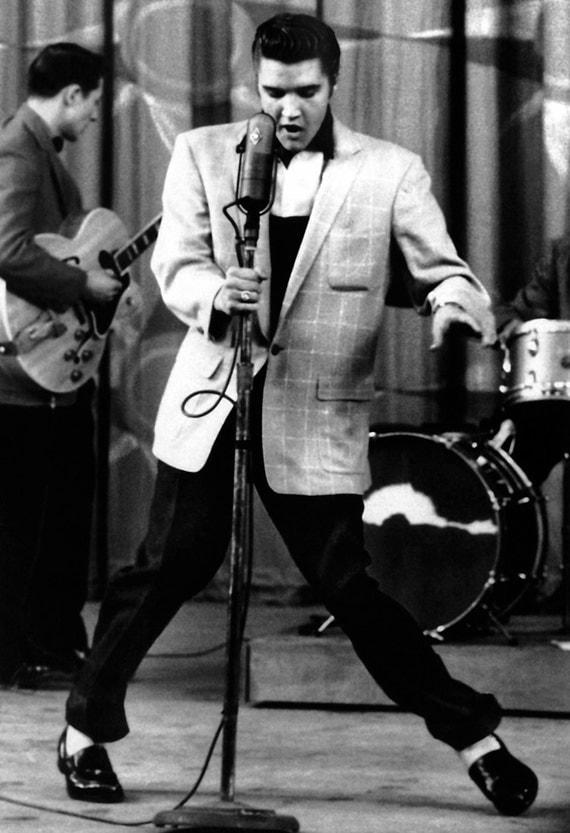 Elvis Presley Poster Dancing Live in Concert Shake Rattle  Elvis Presley P...