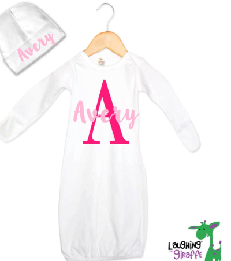 Baby Gifts For Newborn Girl : Personalized baby gifts for girls gift set with gown and