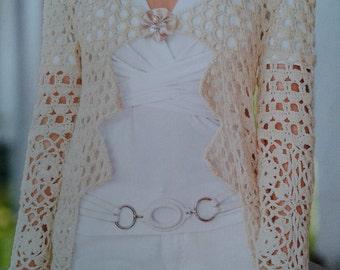 Handmade crochet cardigan blazer tunic jumper women crochet clothes MADE TO ORDER
