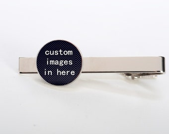 Customized Photo Tie Clips, Tie Tacks, Tie Bars, Tie Pins, Custom Round, Square Cufflinks, Tie Clips, Wedding Tie Clips, Groom Tie Clips