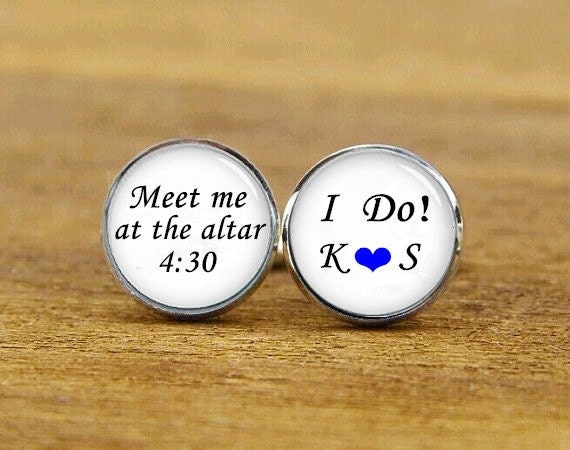meet me at the altar cufflinks, i do cuff links, custom name and date, custom wedding cufflinks, round, square cufflinks, tie clips, set