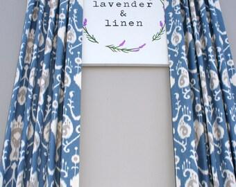 MORE COLORS. Custom Made Ikat Print Curtains