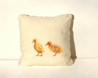 Hand painted Duckling cushion