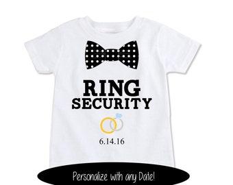 Ring Bearer Shirt Asking the Ring Bearer Wedding Party Shirts Ring Security Outfit Ring bearer Wedding Gift Ringbearer boy bodysuit (EX 369)