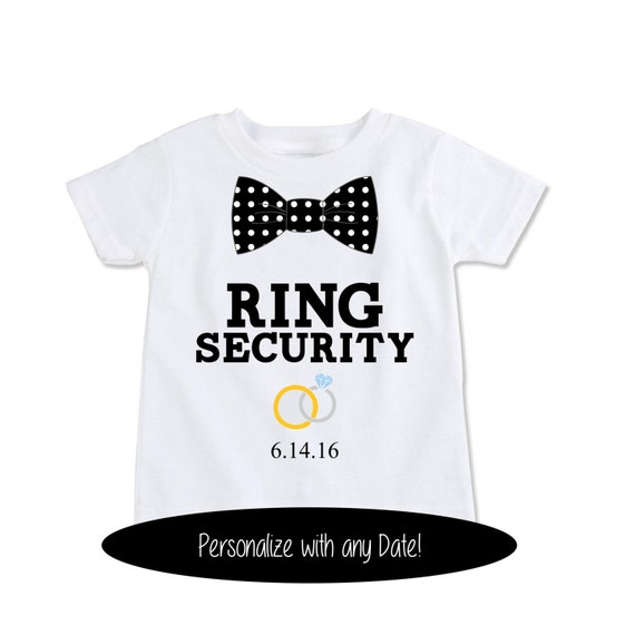 Ring Bearer Shirt Asking the Ring Bearer Wedding Party Shirts